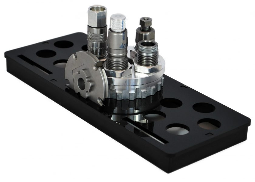 Lee Load Master turret storage tray with turret, dies and shell plate